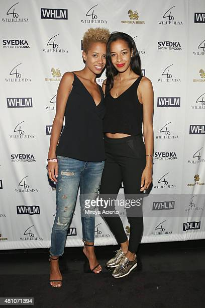 Fashon designer Carly Cushnie and model Krystle Wilson attend the Wilhelmina Models Men's NYFW party in celebration of the 'Wolf Pack' at Marquee on...