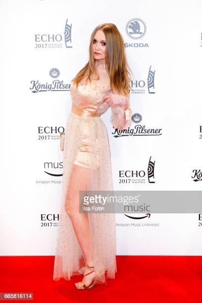 Fashon Designer Ilona Matsour during the Echo award red carpet on April 6 2017 in Berlin Germany