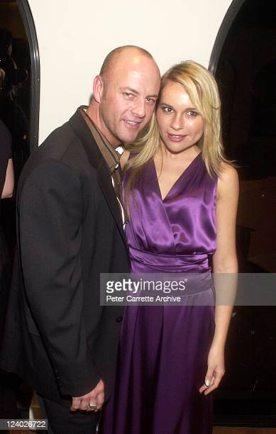 Fasion designer Peter Morrissey and actress Belinda Emmett at the MAC Cosmetics Viva Glam III launch party held at Sotheby's Gallery Woollahra on...