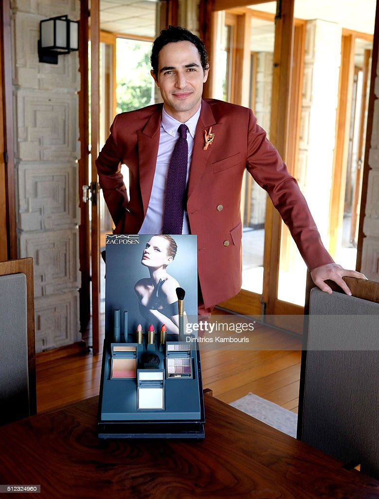 Fasion designer Zac Posen attends the M.A.C Cosmetics Zac Posen luncheon at the Ennis House hosted by Karen Buglisi Weiler, Demi Moore & Jacqui Getty on February 25, 2016 in Los Angeles, California.