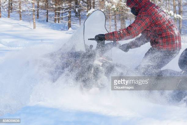 fast and furious snowmobile ride - cliqueimages stock pictures, royalty-free photos & images