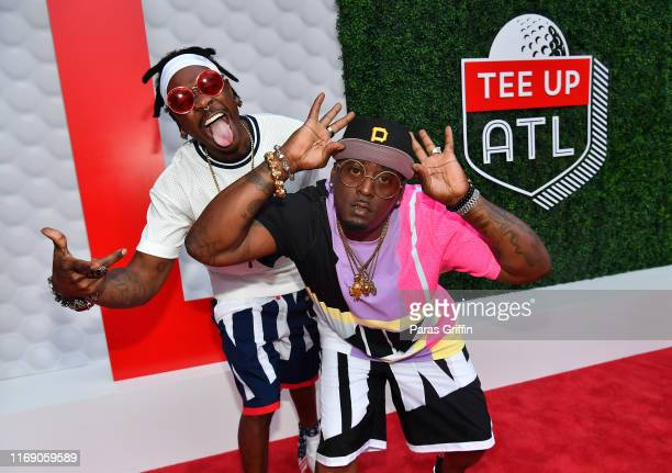 Fast and Thrill da Playa of 69 Boyz attend 5th Annual Tee Up ATL Party at College Football Hall of Fame on August 19 2019 in Atlanta Georgia