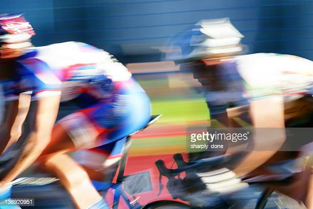 xxl fast bicycle racers - cycling event stock pictures, royalty-free photos & images