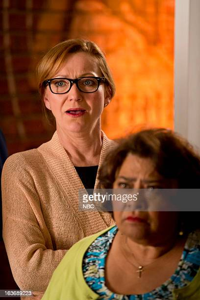 GO ON 'Fast Breakup' Episode 121 Pictured Julie White as Anne Tonita Castro as Fausta