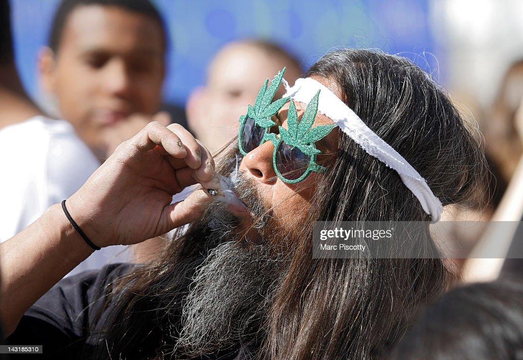 Coloradoan's Celebrate 4/20 With Marijuana Smokeout : News Photo