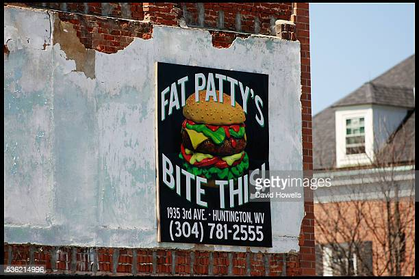 Fast food advertisements in America's most unhealthy town Huntington, West Virginia. Huntington has been named the unhealthiest town in the US due to...