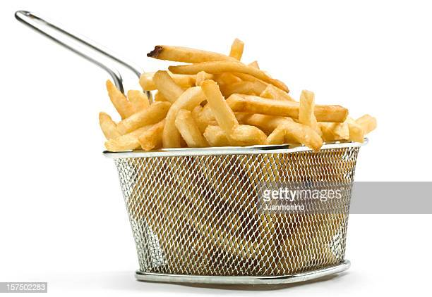 fast food french fries - basket stock photos and pictures