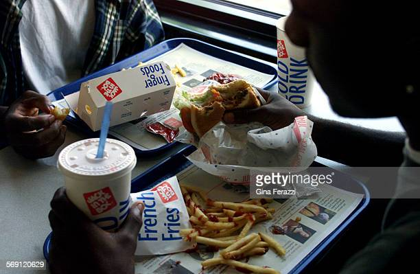 Fast food is a favorite after school snack for teens The Jack In The Box restaurant is a popular hangout in La Canada for after school burgers
