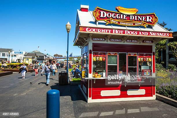 Fast food kiosk in San Francisco, USA