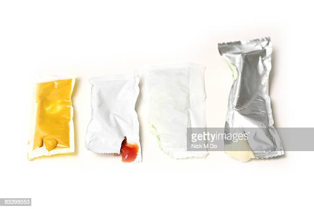 Fast Food Sauces on white background