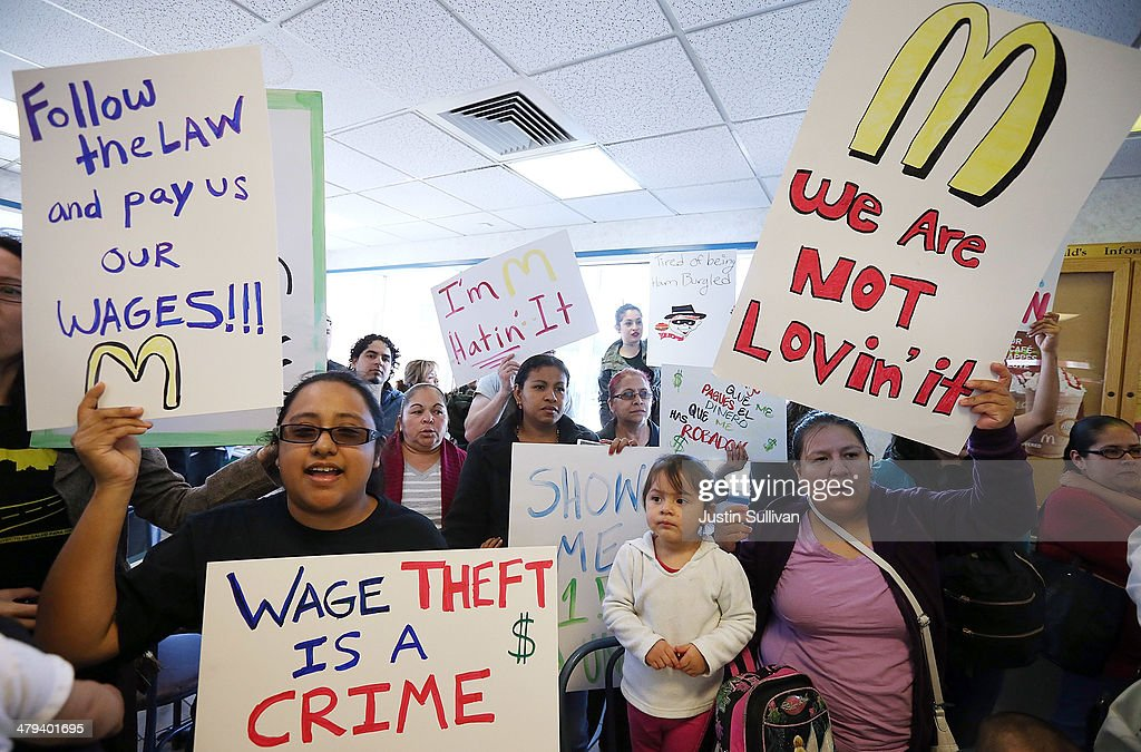 McDonald's Workers, Activists Protest McDonald's Labor Practices : News Photo