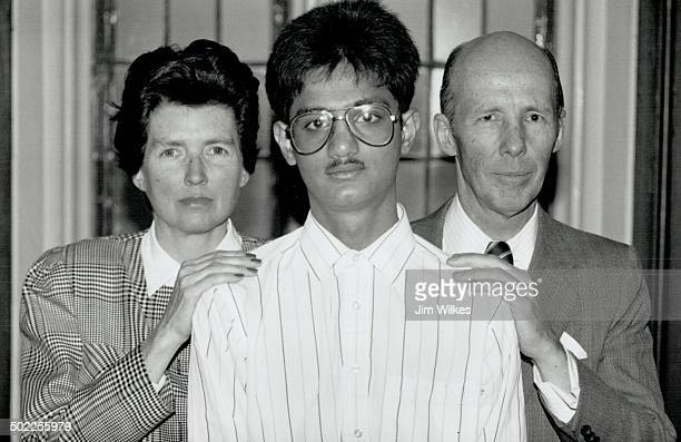 Fast friends: Eleanor and David Walker lend support to 20-year-old Habib Hooker; who says he will be tortured or killed if deported to his native...