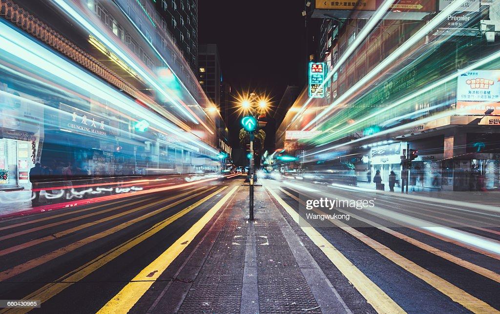 Fast Lane in Hongkong : Stock-Foto