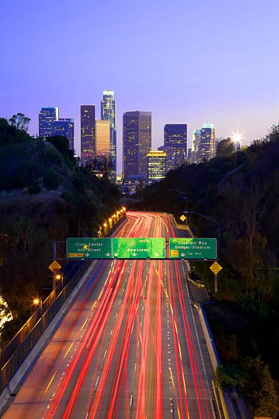 Fast Moving Traffc Toward Downtown LA Wall Art