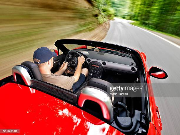 Fast roadster driving