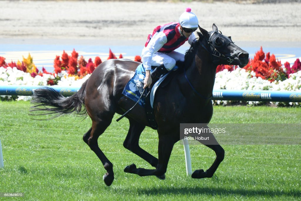 Fast Stryke ridden by Jye McNeil wins the William Hill Plate at Moonee Valley Racecourse on March 13, 2017 in Moonee Ponds, Australia.