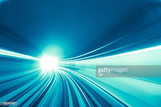 Fast train in a tunnel