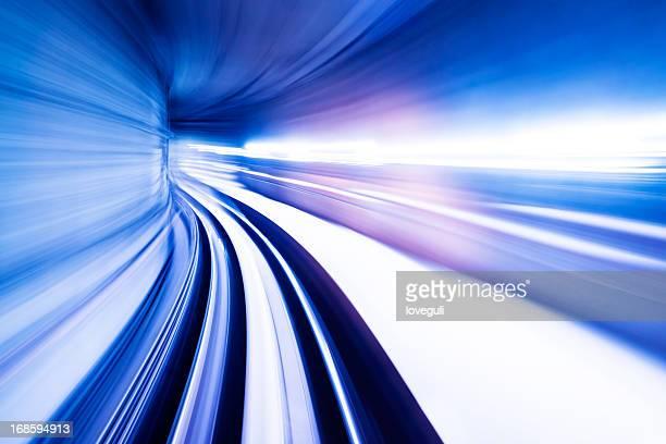 高速列車トンネルまで