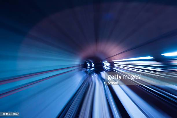 fast train through tunnel