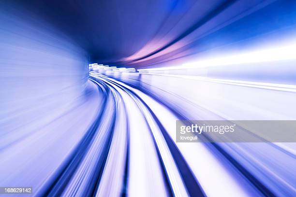 fast train through tunnel