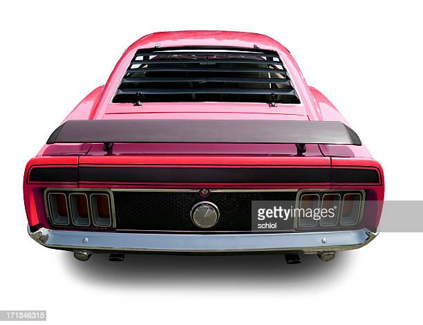 fastback 1970 mustang muscle car - 1970s muscle cars stock pictures, royalty-free photos & images