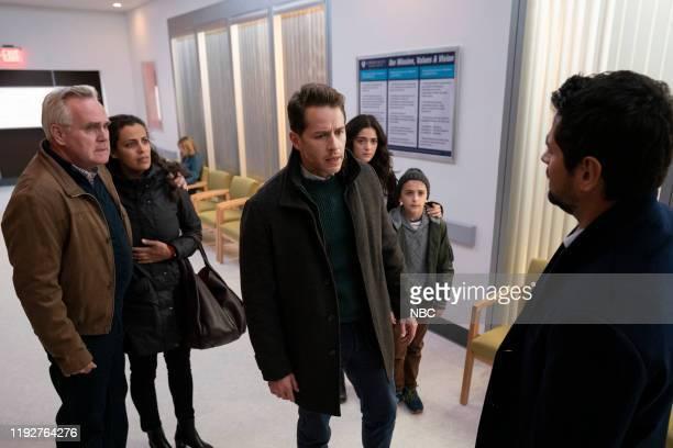 MANIFEST Fasten Your Seatbelts Episode 201 Pictured Malachy Cleary as Steve Stone Athena Karkanis as Grace Stone Josh Dallas as Ben Stone Luna Blaise...