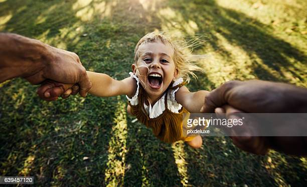 faster, daddy! - swinging stock pictures, royalty-free photos & images
