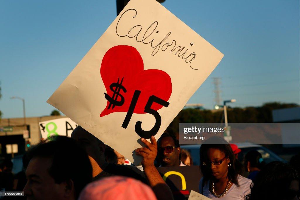 Fast-Food Strikes in 50 U.S. Cities Seeking $15 Per Hour : News Photo