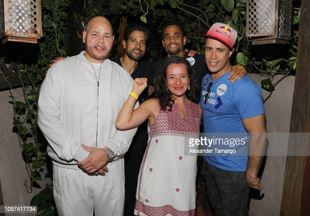 Fat Joe Adam Rodriguez and Michael Ealy are seen at the Latinas Stand Up rally to encourage people to get out and vote at Ball Chain on November 4...