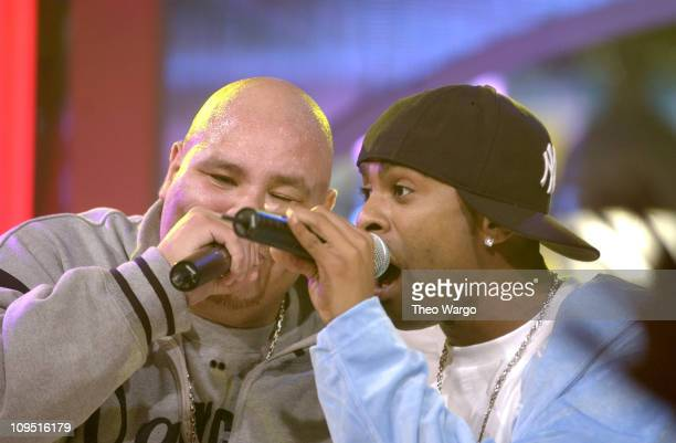 Fat Joe and Ginuwine during Taping of MTV's 'Direct Effect' at MTV Studios Times Square in New York City New York United States