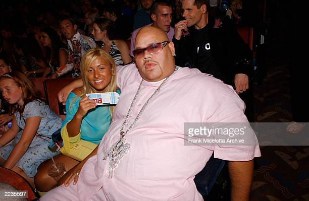 Fat Joe and his wife in the audience attending the 2002 MTV Video Music Awards at Radio City Music Hall in New York City August 29 2002 Photo by...