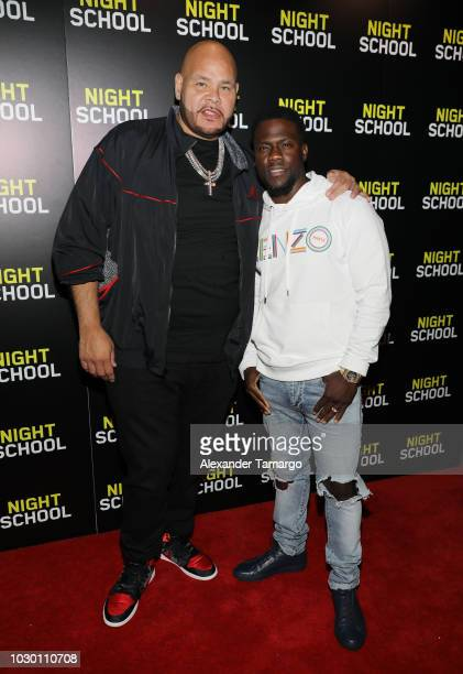 Fat Joe and Kevin Hart are seen at the private screening for the film 'Night School' at CMX Brickell City Center on September 9 2018 in Miami Florida