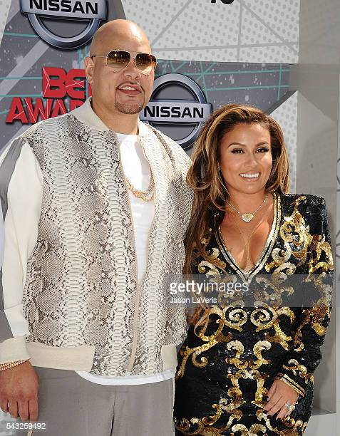 Fat Joe and Lorena Cartagena attend the 2016 BET Awards at Microsoft Theater on June 26 2016 in Los Angeles California