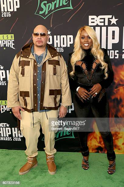 Fat Joe and Remy Ma attend the BET Hip Hop Awards 2016 Green Carpet at Cobb Energy Performing Arts Center on September 17 2016 in Atlanta Georgia