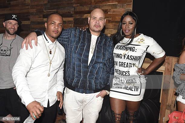 I Fat Joe and Remy Ma pose backstage at the 2016 Panorama NYC Festival Day 1 at Randall's Island on July 22 2016 in New York City