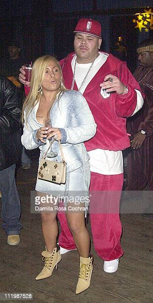 Fat Joe and wife during Fat Joe's Party at Jimmy s Bronx Cafe in New York City New York United States