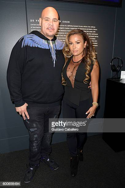 Fat Joe and wife Lola Milan attend the Nike Kids Rock Cocktails Canapes event during New York Fashion Week The Shows on September 8 2016 in New York...