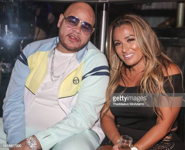 Fat Joe and wife Lorena Cartagena at E11EVEN on August 18 2018 in Miami Florida