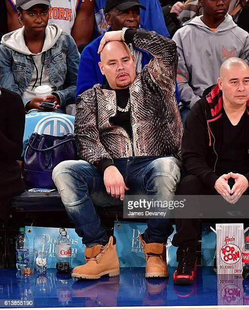 Fat Joe attends New York Knicks vs Washington Wizards preseason game at Madison Square Garden on October 10 2016 in New York City