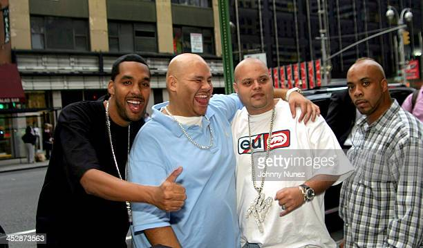 E Fat Joe Charlie and guest during New Era Design Session with Terror Squad Hat at Carolines in New York City New York United States