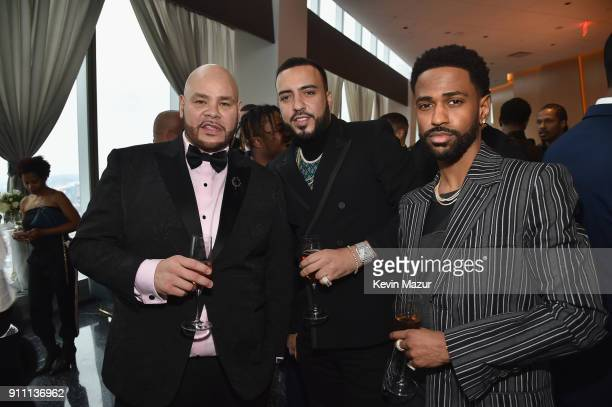 Fat Joe French Montana and Big Sean attend Roc Nation THE BRUNCH at One World Observatory on January 27 2018 in New York City