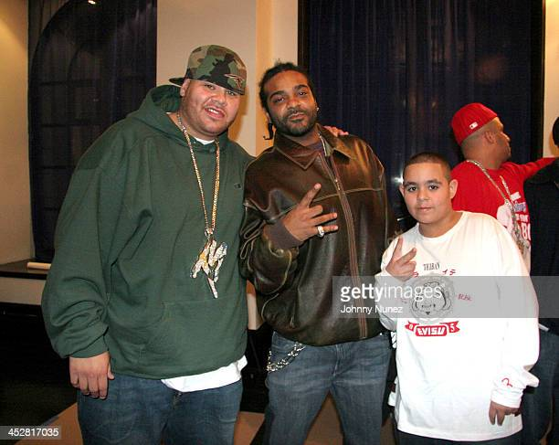 Fat Joe Jim Jones and Lil' Joe during Remy Martin Conceited Music Video Shoot November 8 2005 at Sky Studio in New York New York United States