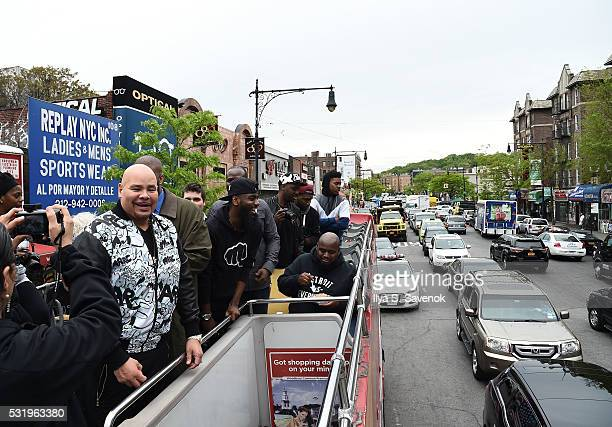 Fat Joe poses during Ride Of Fame ride with My Voice at Bryant Park on May 17 2016 in New York City