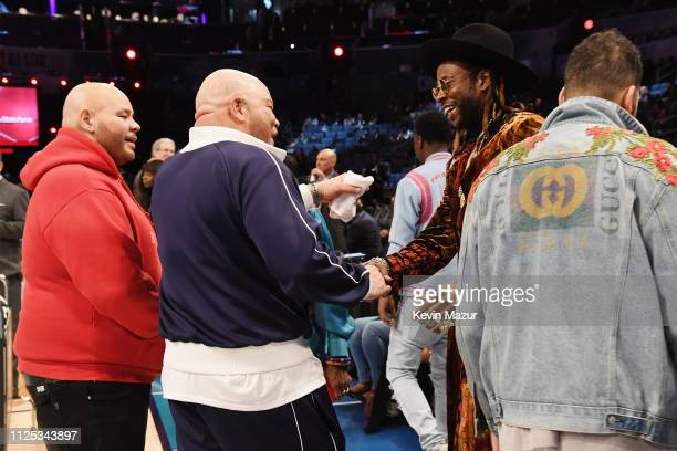 Fat Joe Shawn Pecas Costner and 2 Chainz attend the 2019 State Farm AllStar Saturday Night at Spectrum Center on February 16 2019 in Charlotte North...