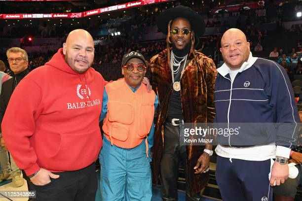 Fat Joe Spike Lee 2 Chainz and Shawn Pecas Costner attend the 2019 State Farm AllStar Saturday Night at Spectrum Center on February 16 2019 in...