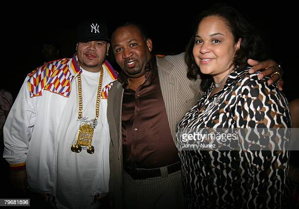 Fat Joe Vernon Irvin and His Wife attends Jermaine Dupris So So Def/Island PreGRAMMY Party Inside February 8 2008 Los Angeles CA