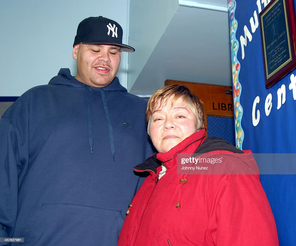 Fat Joe with his Mom during Fat Joe Computer Donation to P.S.146 in... News  Photo - Getty Images