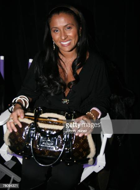 Fat Joe's wife Lorena attends the 1st Annual Angie Martinez Hair Show Beauty Expo at the Hammerstein Ballroom November 24 2007 in New York City