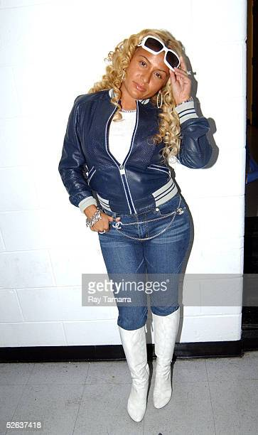 Fat Joe's wife Lorena Cartegena poses for photos at Nelly Fat Joe and TI's Up Close And Personal Concert at the Theater at Madison Square Garden...