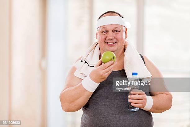 Fat man dieting.
